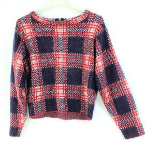 Forever 21 Plaid scoop necks crop top sweater S